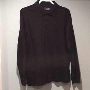 Roundtree & Yorke men's long sleeve polo shirt